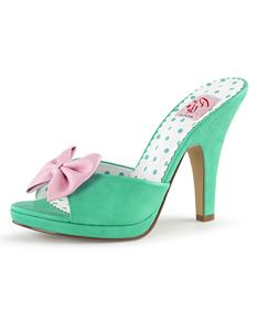 Pin Up Couture Siren 03 Baby Bow Mules Shoes
