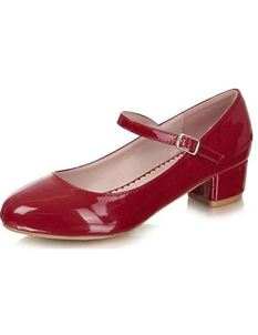 Collectif 40s 50s Mary Jane Red Patent Shoes