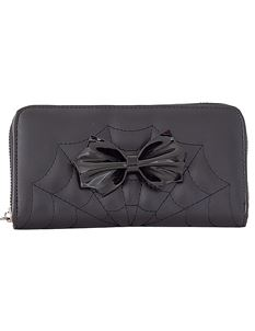 Banned Alternative Femme Fatale Spider Web Wallet Purse