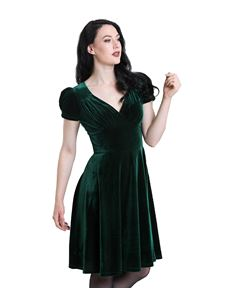 Hell Bunny Joanne Velvet Xmas Christmas Party Dress