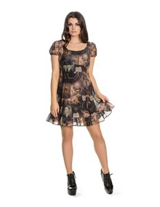 Hell Bunny Renaissance Alternative Mini Dress