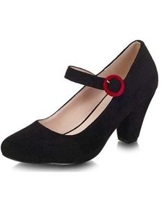 Collectif 40s 50s Black Suede High Heel Shoes