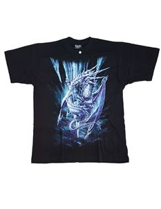 Spiral Direct Mens Ice Dragon Short Sleeve T Shirt