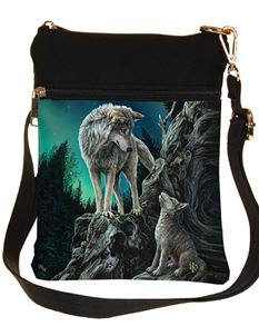 Nemesis Now Guidance Wolf Shoulder Bag By Lisa Parker