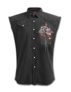 Spiral Direct Mens Never Too Loud Sleeveless Work Shirt