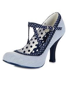 Ruby Shoo Jessica Blue Stripe Polka Dot Nautical Shoes