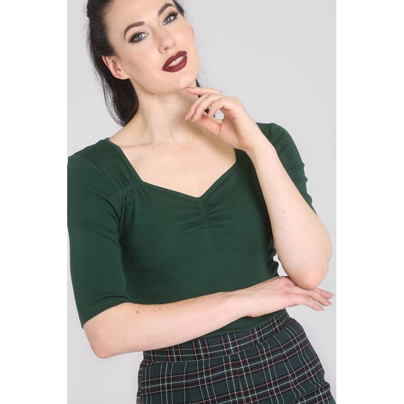 49cebdcc4c2d69 Hell Bunny Philippa 50s Vintage Style Jersey Top