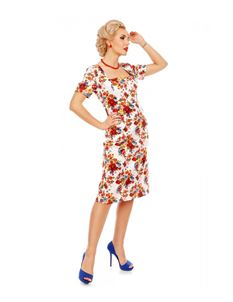 Dolly & Dotty Daisy Floral Sleeve Pocket Pencil Dress