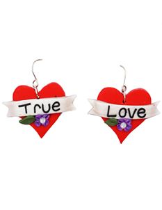 Guns N Posies True Love Heart Earrings