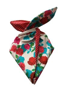 Be Bop a Hairbands Turquoise, Red & Pink Floral Hairband