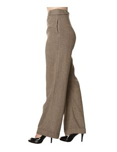 Dancing Days Lady Luck Wide Leg 40s Style Herringbone Trousers