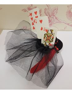 Hand Made Queen of Hearts Themed Hair Piece