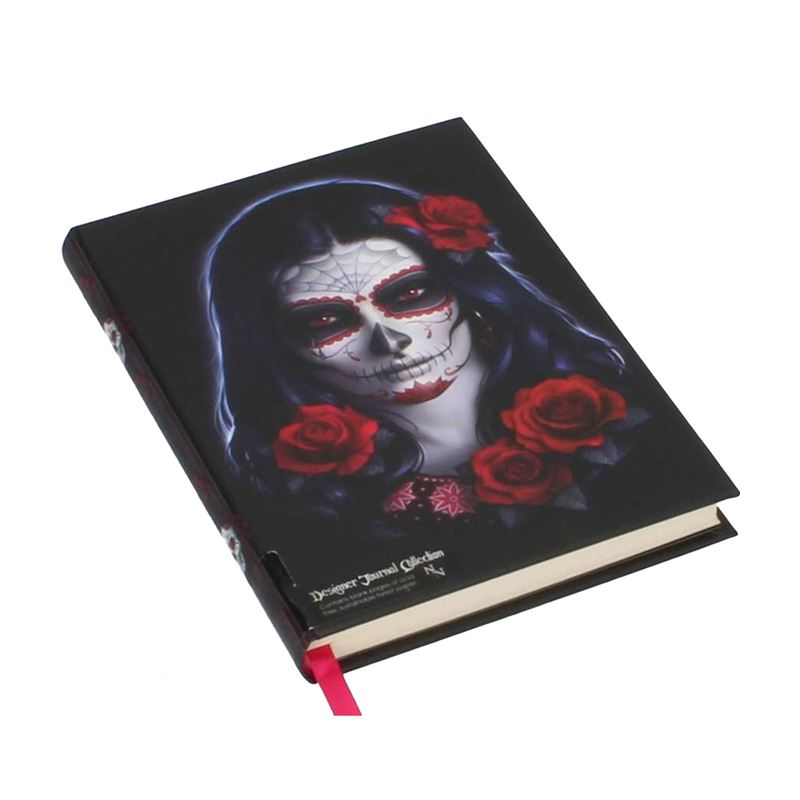 James Ryman Sugar Skull Embossed Journal Notebook