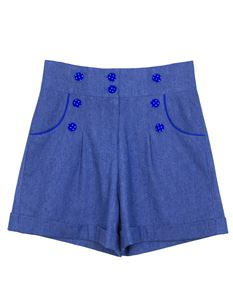 Weekend Doll High Waisted Denim Ava Blue Shorts