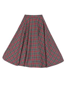 Lindy Bop Peggy Grey Tartan Skirt Size UK 10