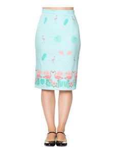 Dancing Days Going My Way Flamingo 50s Pencil Skirt