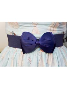 Silly Old Sea Dog Navy Blue Bow Belt
