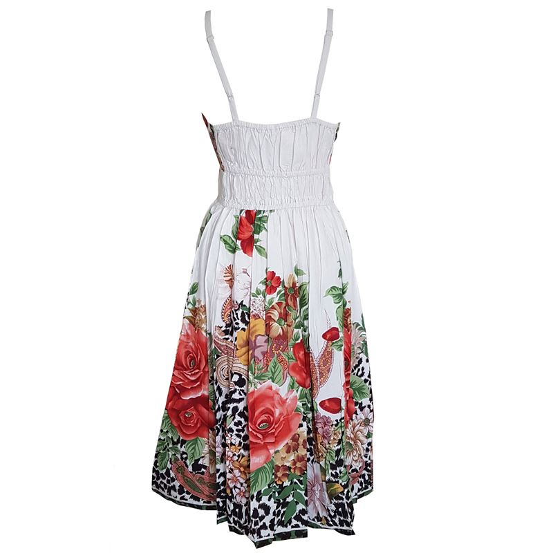 Summer Maxi Length Floral Black White Dress