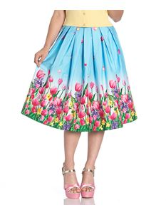 Hell Bunny Angelique Tulip Floral 50s Style Skirt