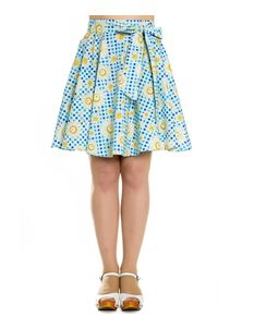 Hell Bunny Sunshine Daisy Floral Gingham Mini Skirt