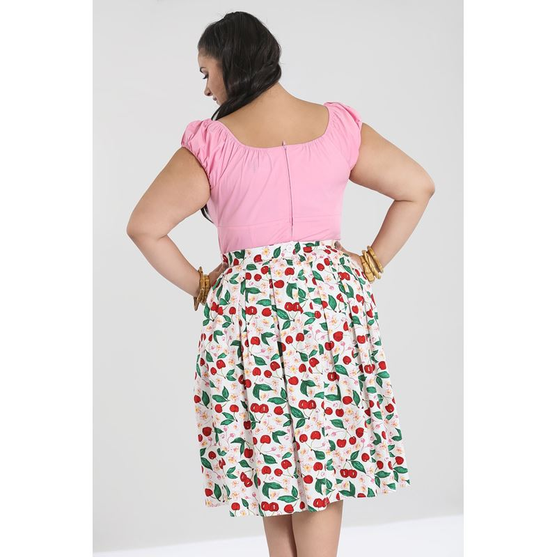 Hell Bunny Yvette Cherry 50s Rockabilly Skirt