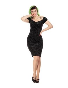 Collectif Mainline Dolores Glitter Drops Pencil Dress