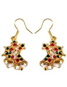 Shazazz Jewellery Colourful Christmas Bell Earrings