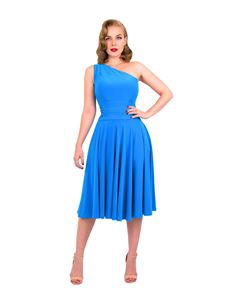 Zoe Vine Azure Blue Asymmetric Amy Dress