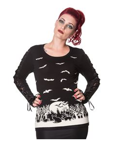 Banned Drew Bat Woodland Jumper Alternative Sweater