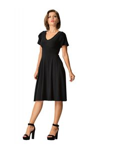 Dolly & Dotty Black Swing Dress With Short Sleeves