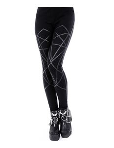 Restyle Pentagram Alternative Occult Black Leggings