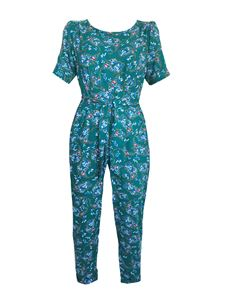 Trollied Dolly Jumpsuit - Emerald Paisley