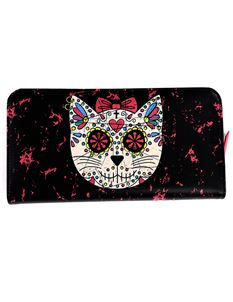Banned Sugar Kitty Cat Artificial Leather Wallet Purse
