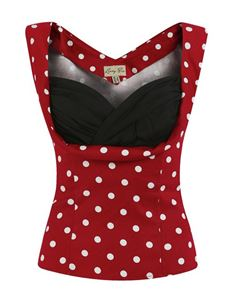 Lindy Bop Dorelia Red White Polka Dot Size UK 22