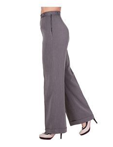 Banned 40s Wide-Leg Party On Classy Trouser In Charcoal