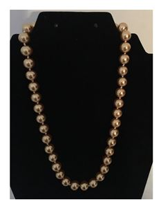 Collectif Dainty Pearl 50s Style Necklace Gold