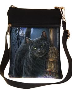 Nemesis Now A Brush with Magick Cat Bag By Lisa Parker