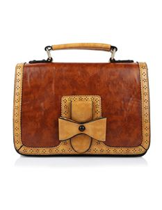 Dancing Days-Banned Retro Camel/Brown Scandal Handbag