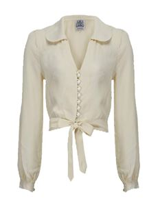 The Seamstress Of Bloomsbury Clarice Cream Blouse
