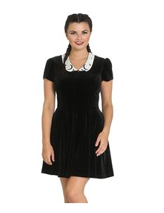 Hell Bunny Interstellar Velvet Mini Alternative Dress