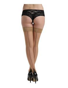 Pamela Mann Jive Seamed Nude/Black Hold Ups