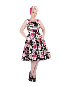 Hearts & Roses Rose Blossom Floral Swing Dress