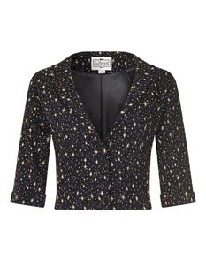 Collectif Marli Black and Gold Atomic Star 50s Style Bolero