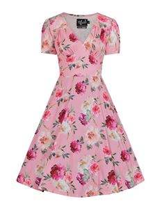 Hell Bunny Jolie Rose Floral 50s Style Tea Dress