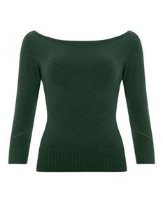 Collectif Vintage Bardot Boat Neck Jumper