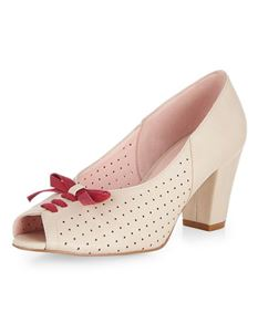 Collectif Lulu Hun Maureen Peep Toe 40s Vintage Shoes