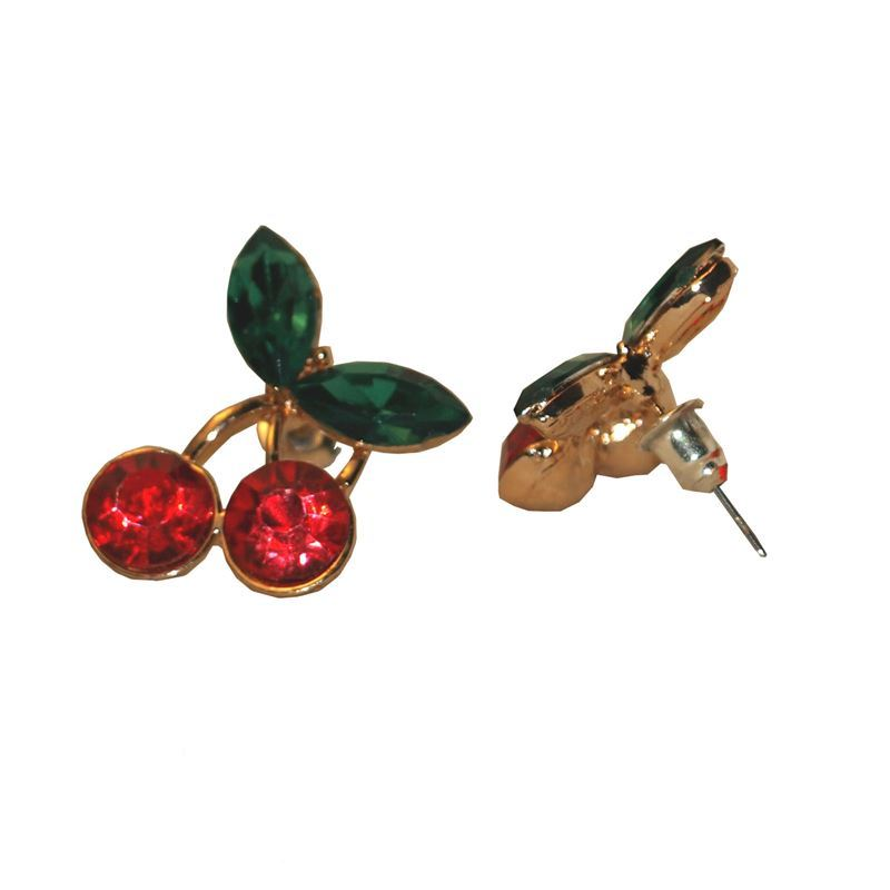 Gas Axe Inc Cherry Crystal Earrings lavOcPoiYC