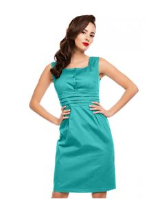 Dolly & Dotty Olive Pencil Turquoise Wiggle Dress