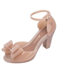 Zaxy Diva Bow 2 Nude Heels With Ankle Strap