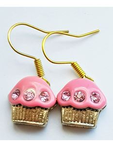 Shazazz Jewellery Pink Cup Cake Earrings